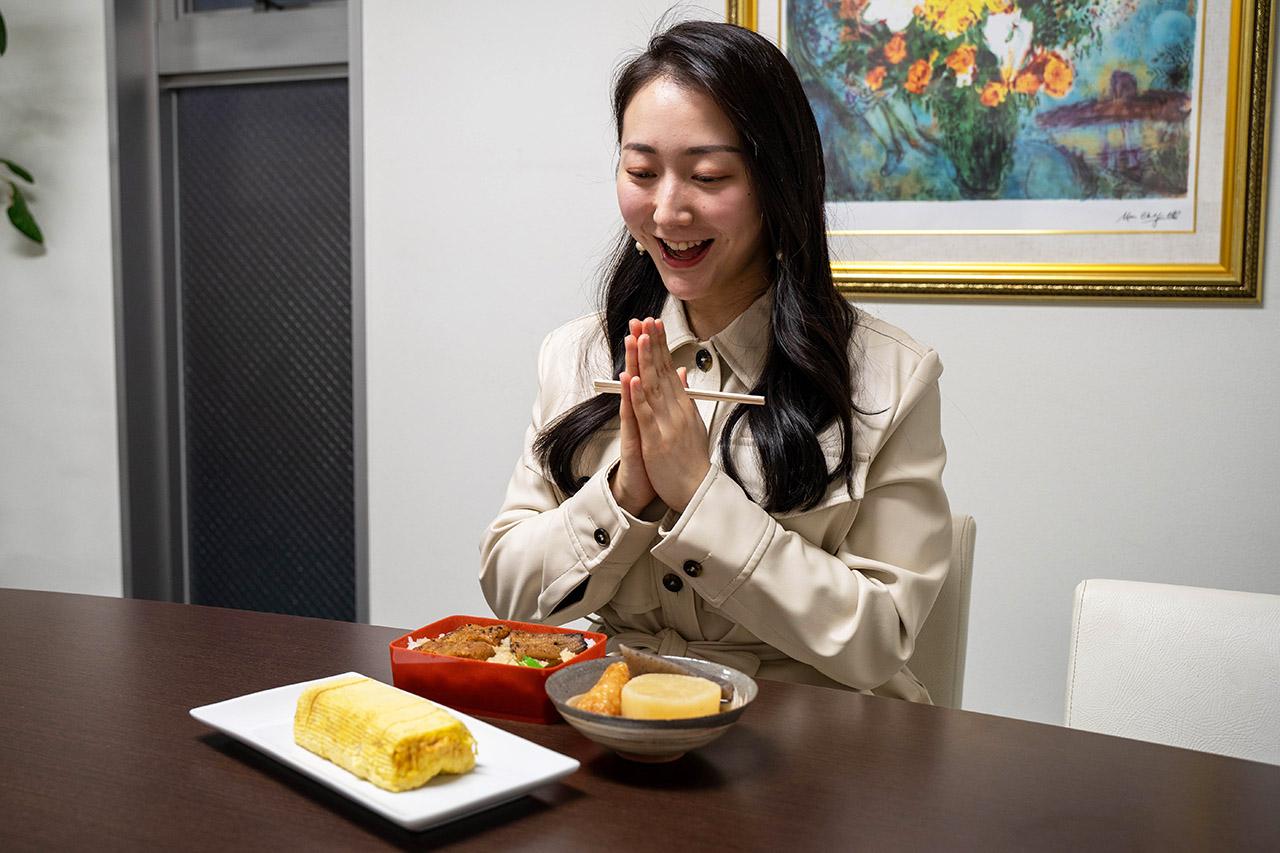 [田中鶏卵]の京だし巻、[のとよ本店]の炭焼うなぎ弁当、[丸常]の姉三六角京おでん。