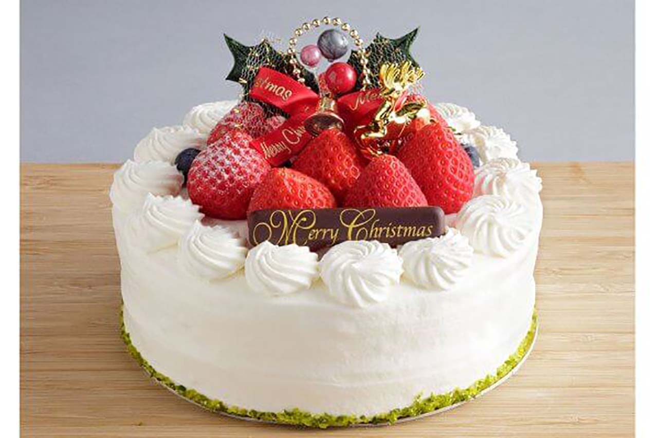 あまおう苺のクリスマスケーキ 直径約15cm/3,900円