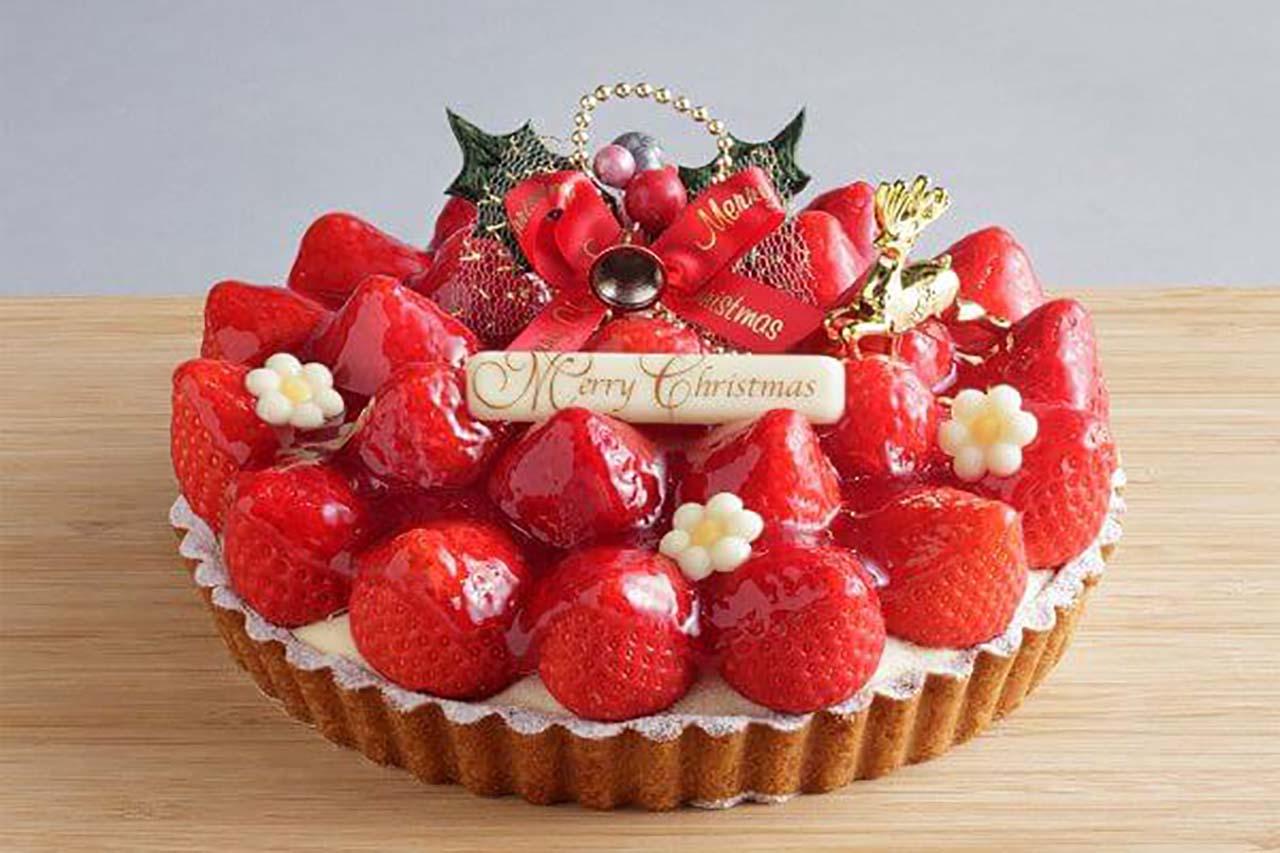 あまおう苺のクリスマスタルト 直径約18cm/4,500円