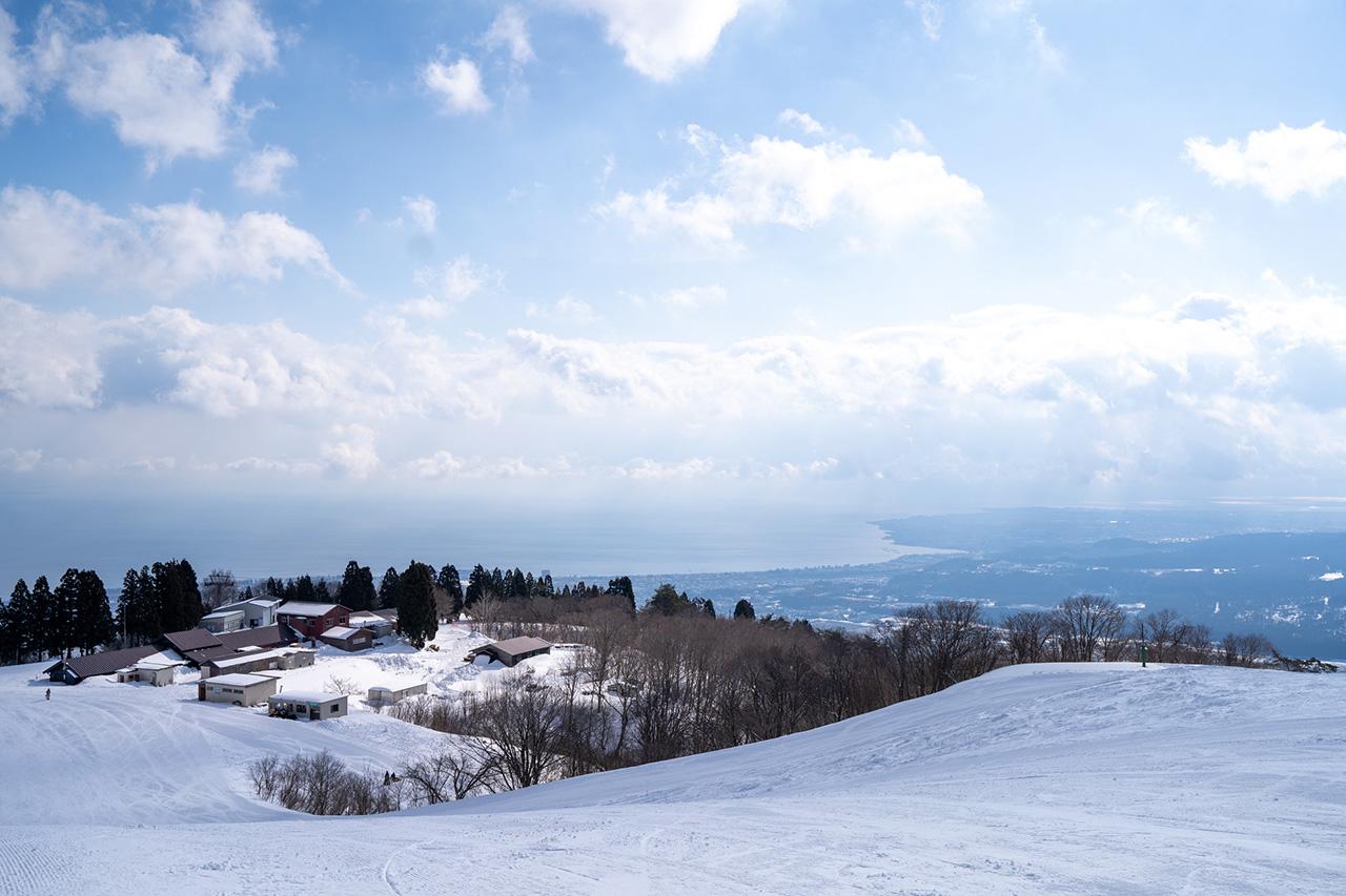 第3ゲレンデ山頂からの眺望