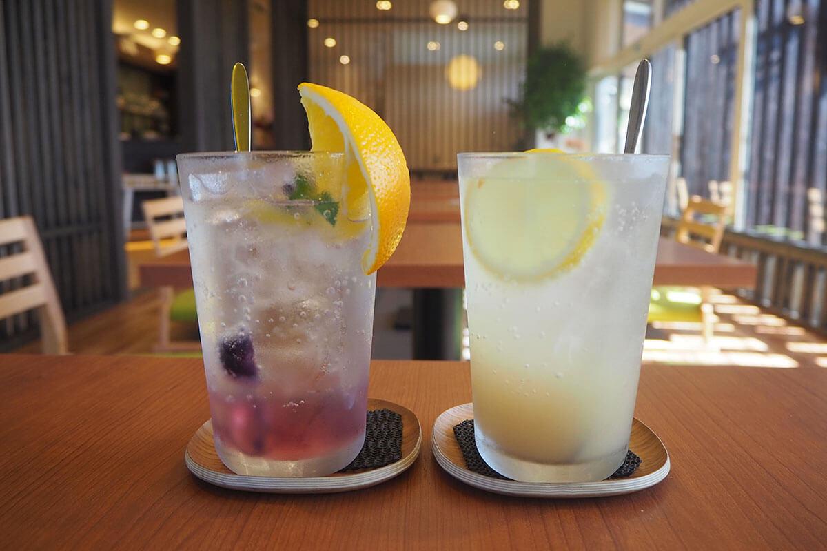 (左)本日の酵素ドリンク420円(右)自家製ジンジャーエール380円 ※税込