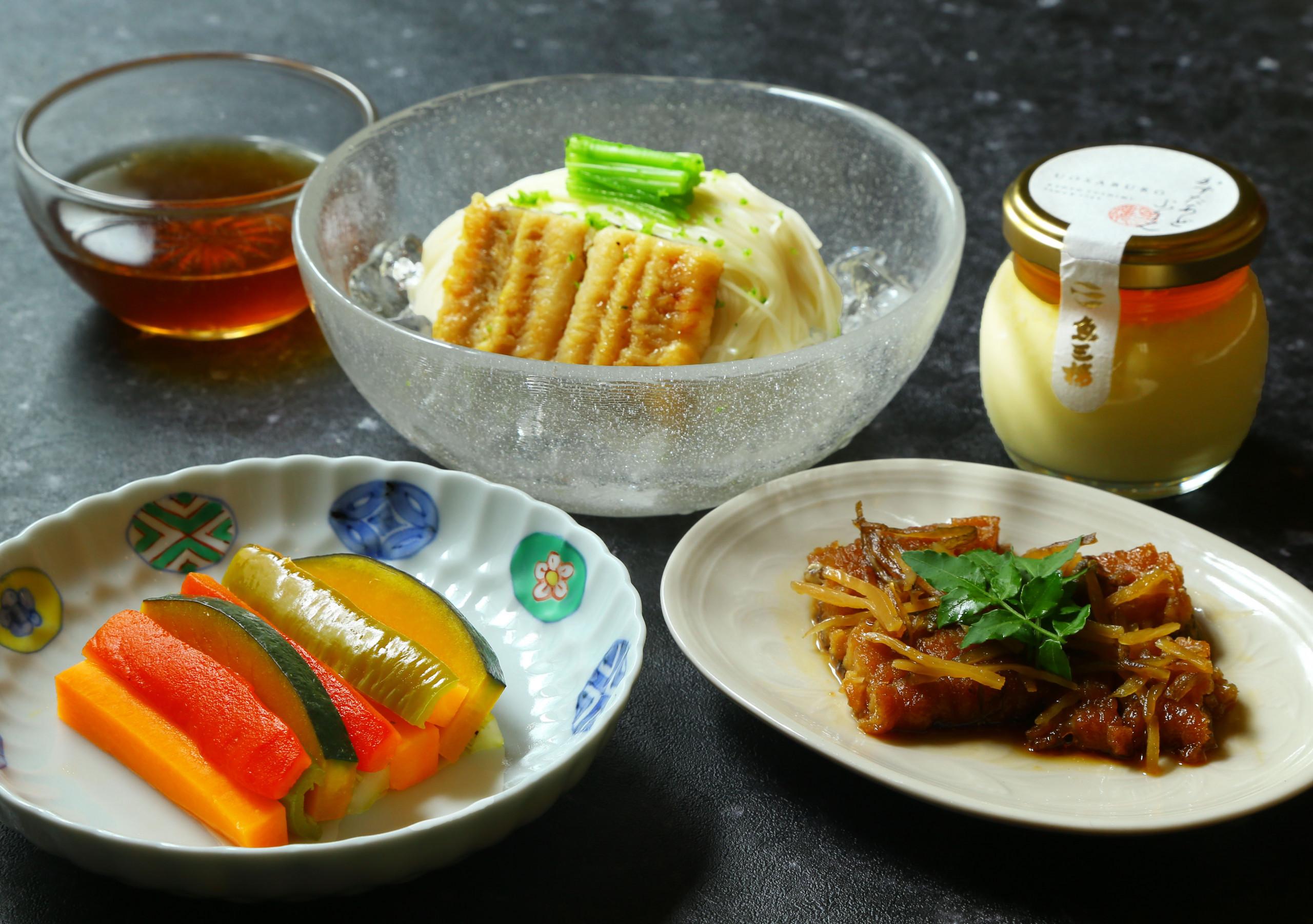 【魚三楼】京野菜と鱧素麺セット