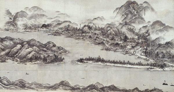 国宝 天橋立図 雪舟筆 室町・16世紀 京都国立博物館 10月3日~10月29日展示