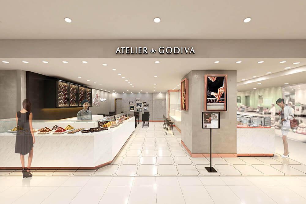 高級チョコ「ゴディバ」が、[ATELIER de GODIVA大丸京都]を2月7日(水)にオープン!