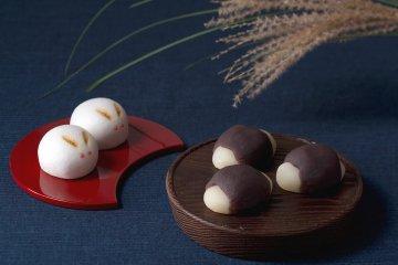 京都の和菓子店が作る「月見だんご」と「うさぎ」のお菓子