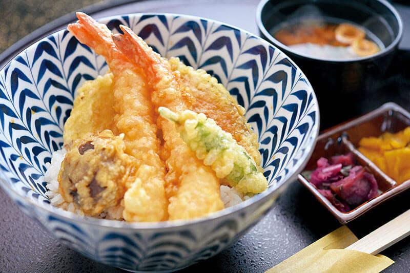 サクサクの衣、味わい深いタレが魅力の「天ぷら・天丼」