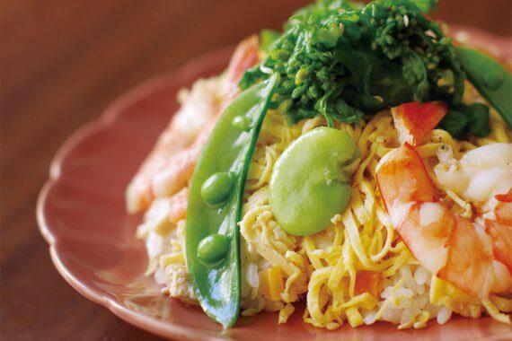 春野菜のちらし寿司 - おうち時間がもっと充実する、京都のおばんざいレシピ伝授